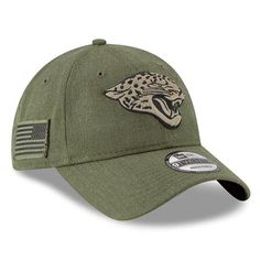 buy cheap 9b2a1 ec660 NFL Jacksonville Jaguars New Era Women s 2018 Salute to Service Sideline  9TWENTY Adjustable Hat