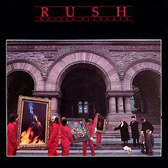 Rush: Moving Pictures (front)  Art Direction, Graphics and Cover Concept:  Hugh Syme  Photography:  Deborah Samuel