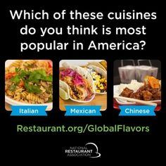 New @WeRRestaurants research finds Americans are embracing global flavors