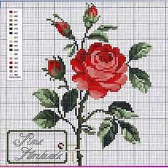 Victoria - Handmade Creations: Designs for embroidery with roses Cross Stitch Boarders, Cross Stitch Bird, Cross Stitch Flowers, Counted Cross Stitch Patterns, Cross Stitch Charts, Cross Stitch Designs, Cross Stitching, Hardanger Embroidery, Cross Stitch Embroidery