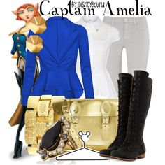 """""""Captain Amelia"""" by leslieakay on Polyvore"""