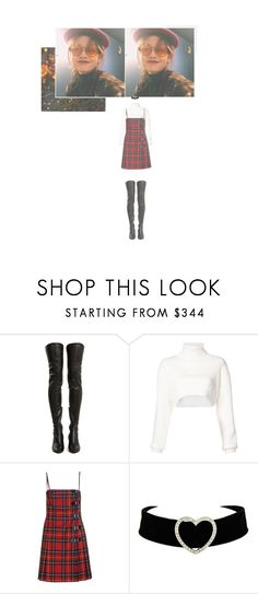 """""""— ATTENDING THE PLAYDIUS CHRISTMAS PARTY"""" by ohsoyoung ❤ liked on Polyvore featuring Yves Saint Laurent, Alexandre Vauthier and Moschino Cheap & Chic"""