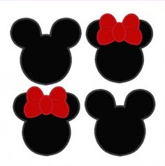 Minnie & Mickey Mouse Silhouettes