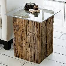 Image result for reclaimed wood pedestal table