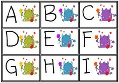 "Monster Alphabet... for use with Mr. Munch... or with anything else {i.e. Monster-themed class ""Word Wall""}"