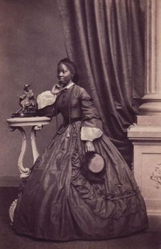Portrait of Princess Sarah Forbes Bonetta taken by French photographer Camille Silvy (1834-1910) at his London studio a month after Sarah's marriage in 1862.