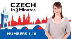 Learn Czech - Numbers 1-10 - Czech in Three Minutes