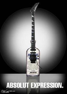 Absolut Vodka - Absolut Expression #Absolut #AbsolutVodka    http://pinterest.com/treypeezy  http://twitter.com/TreyPeezy  http://instagram.com/treypeezydot  http://OceanviewBLVD.com