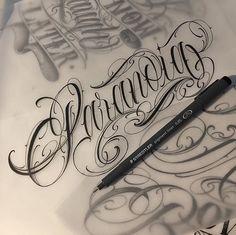 Chicano Tattoos Lettering, Tattoo Lettering Design, Graffiti Lettering Fonts, Writing Tattoos, Tattoo Lettering Fonts, Hand Lettering Alphabet, Tattoo Script, Dragon Tattoo Arm, Arm Tattoo