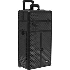 SUNRISE Rolling Makeup Case 2 in 1 Cosmetic Artist I3266, French Doors, 3 Sliding Tray and 2 Drawers, Locking with Mirror,  Black Diamond *** You can find out more details at the link of the image.