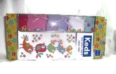 LOT 5 New KEDS Kids Girl's Panties Underpants Underwear Size 8-10 Birds Hearts - http://clothing.goshoppins.com/kids/lot-5-new-keds-kids-girls-panties-underpants-underwear-size-8-10-birds-hearts/