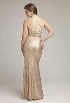 Prom Dresses 2013 - Sequin Boustier Dress with Jeweled Strap Back from Camille La Vie and Group USA