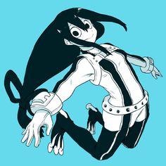 1girl asui_tsuyu black_eyes bodysuit boku_no_hero_academia frog_girl gloves…
