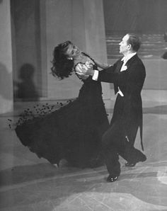 I always imagine that the truest happiness would feel like Fred Astaire spinning you around a dance floor while you wear a sparkling gown.