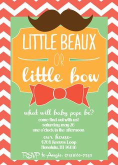 Gender Reveal Invite.--might be obsessed with this concept... @Lindsay Porter please get preggo soon! haha