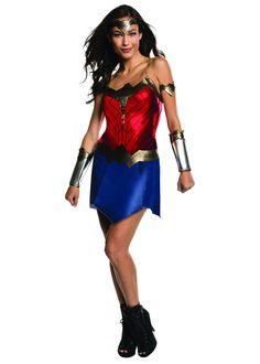 Wonder Woman Womens Costume DC comics Marvel Superhero Fancy Dress outfit