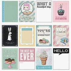 The Sweet Life Journaling Cards (set of 24)