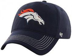 NFL Denver Broncos '47 Brand Game Time Closer Stretch Fit Hat, Light Navy, One Size Stretch  #NFL