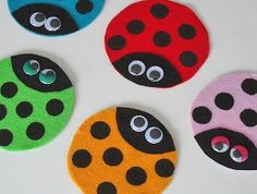 Making these ladybugs as spring crafts for kids is the perfect solution for what to do with old CDs. Spring kids' crafts are such lovely ways to brighten up a day. BUG BADGE, & recycle project.