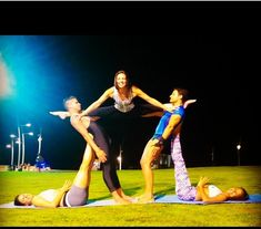 Group acro balance