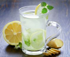 Cleanse Your Body Naturally with Detox Foods, Drinks and Bath - Timeshood Lemonade Tea Recipe, Healthy Lemonade, Green Tea Lemonade, Basil Lemonade, Healthy Drinks, Lemonade Drink, Honey Lemonade, Healthy Snacks, Lemon And Ginger Detox