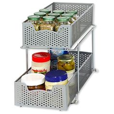 Awesome Simplehouseware Over the Cabinet Door organizer Holder Silver