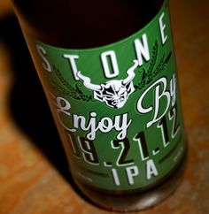 We have Stone Brewing Enjoy By for a limited time! #beer