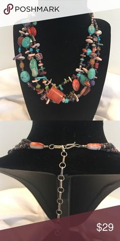 """SALE🎄 -Great Gift - Vintage Beaded Necklace This necklace will go with anything made with a gorgeous array of colors - 20"""" at longest Vintage Jewelry Necklaces"""