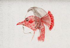 illustration work of Hong Kong based artist Peony Yip, aka The White Deer. Art And Illustration, Hirsch Illustration, Animal Illustrations, Portraits, Peonies, Printmaking, Illustrators, Cool Art, Art Pieces