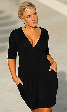 19fee97e60838 Dresses and one piece outfits are a good choice for the hour glass woman
