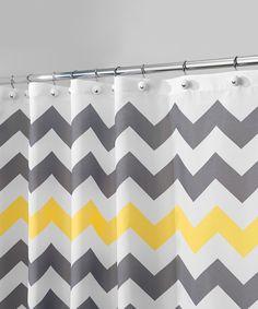 Look at this #zulilyfind! Gray & Yellow Chevron Shower Curtain by InterDesign #zulilyfinds