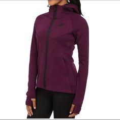 34481782639f Shop Women s Nike Purple Black size S Sweatshirts   Hoodies at a discounted  price at Poshmark. Description  New Nike Tech fleece full zip in purple  black.