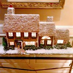 "2010 Gingerbread House Contest Winners - 2nd Runner Up: Unreal Replica : by Kerry H., Madison, CT:   ""My gingerbread house is a creative replica of my own home; it's something I've always dreamed of doing!"""
