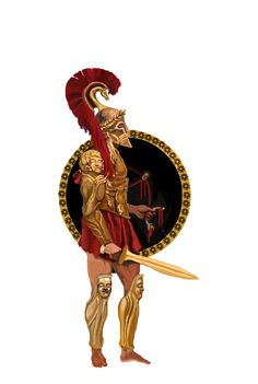 Ancient Greek Hoplite by Konstantine Alexiou