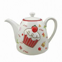 Ceramic Cupcake Teapot for Christmas Christmas Tea, Christmas Design, Pallette, Artistic Visions, Cute Teapot, China Tea Sets, Teapots And Cups, Ceramic Teapots, Chocolate Pots