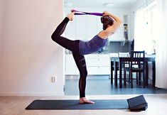 Practice yoga safely and work towards deeper poses by using props. Here's How to Use a Yoga Strap including example poses and descriptions. Dolphin Pose, Dancers Pose, Yoga Inversions, Yoga Workshop, Bow Pose, Yoga Props, Yoga Strap, Yoga Block, Yoga For Flexibility