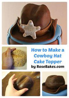 Cómo hacer el sombrero de vaquero de la torta del collage por Pinterest