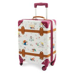 Little ones will be excited to travel with the young Disney Princesses when they join along on this Disney Animators' Collection Rolling Luggage. The vintage-style trunk design features a charming print with the little royals in fairytale settings. Disney Luggage, Kids Luggage, Vintage Stil, Style Vintage, Vintage Fashion, Steamboat Willie, Merida, Resort Logo, Dog Pajamas