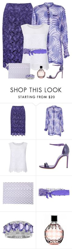 """""""Lace Violet Skirt"""" by polishdiva1 ❤ liked on Polyvore featuring M&Co, Dries Van Noten, Diane Von Furstenberg, Casadei, MM6 Maison Margiela, Parah and Jimmy Choo"""