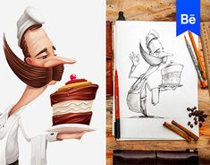 """Check out this @Behance project: """"Characters, part 1"""" https://www.behance.net/gallery/27000169/Characters-part-1"""
