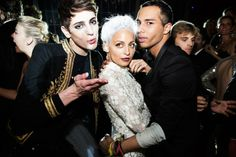 Harry Brant, Nicole Richie, and Olivier Rousteing at the Met Gala 2013 After Party at the Boom Boom Room.