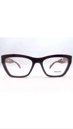 899b2b229af5 Prada VPR 14Q ROM-1O1 Purple Havana New Authentic Eyeglasses 53 17 140mm  w Case  Prada