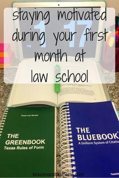 getting used to law school | brazenandbrunette.com