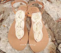 Ivory Rose Bridal Handmade Leather Sandals