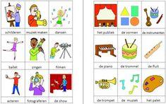 Dit woordweb in het thema kunst kun je downloaden op de website van Juf Milou.