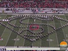 Ohio State University Marching Band's Hollywood tribute.