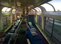 The observation car on our California Zephyr, which travels between Chicago and Chicago