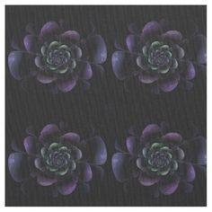 Purple Lavender Green Black Floral on Black Backdrop 0