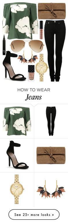 """Untitled #646"" by daimy-style on Polyvore featuring TIBI, MM6 Maison Margiela, Ray-Ban, LULUS, Kate Spade, Marni, NYX and Gucci"