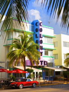 Ocean Drive, South Beach, Miami Beach, Florida, USA Photographic Print by Angelo Cavalli at AllPosters.com